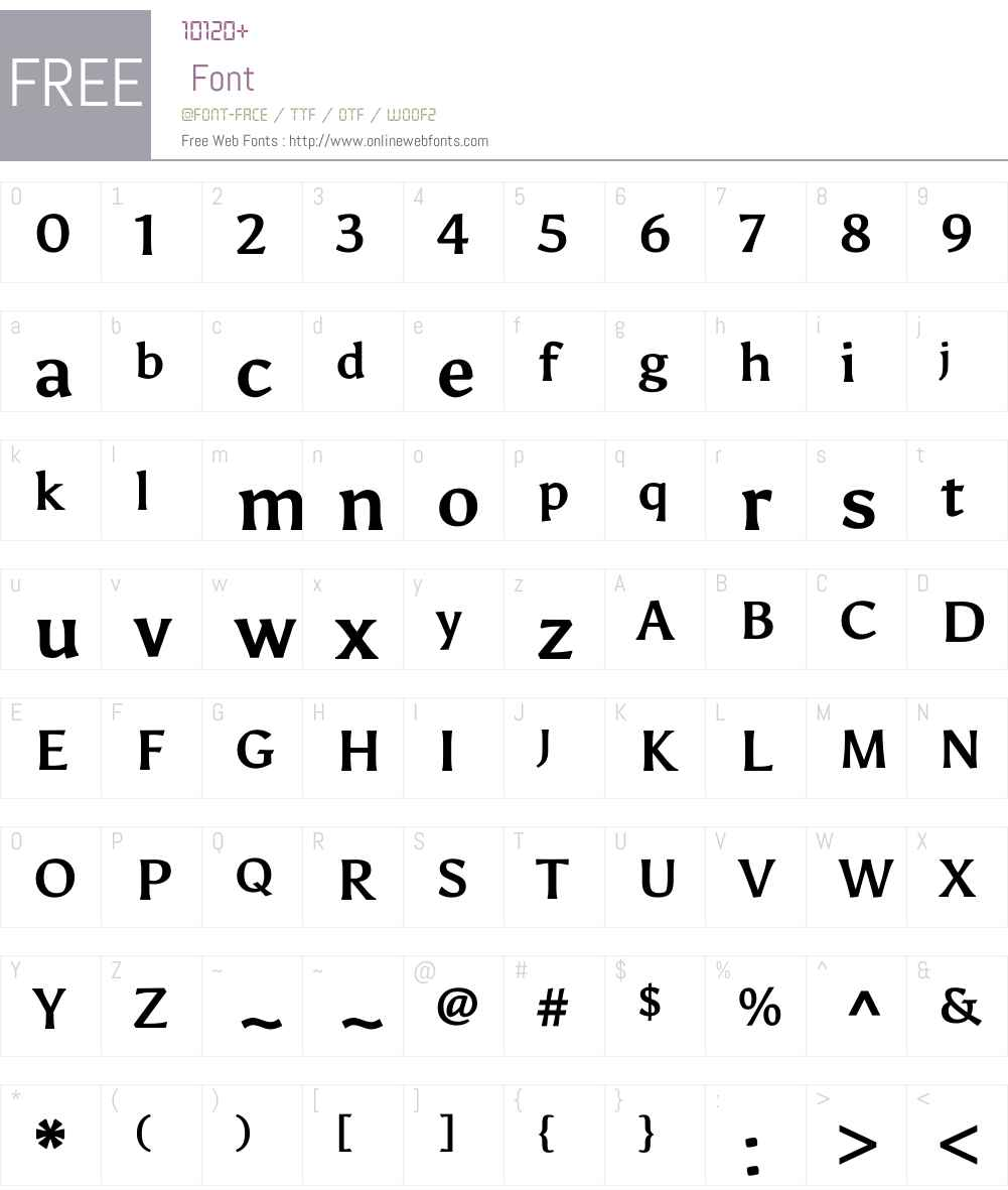Asul Font Screenshots