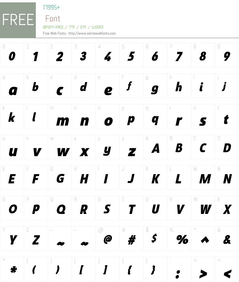 SavignyW01-BlackCondItalic Font Screenshots
