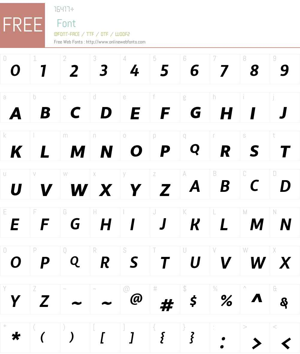 LibertadW00SC-BoldItalic Font Screenshots