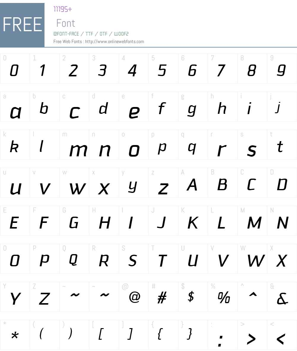 Downtempo Font Screenshots