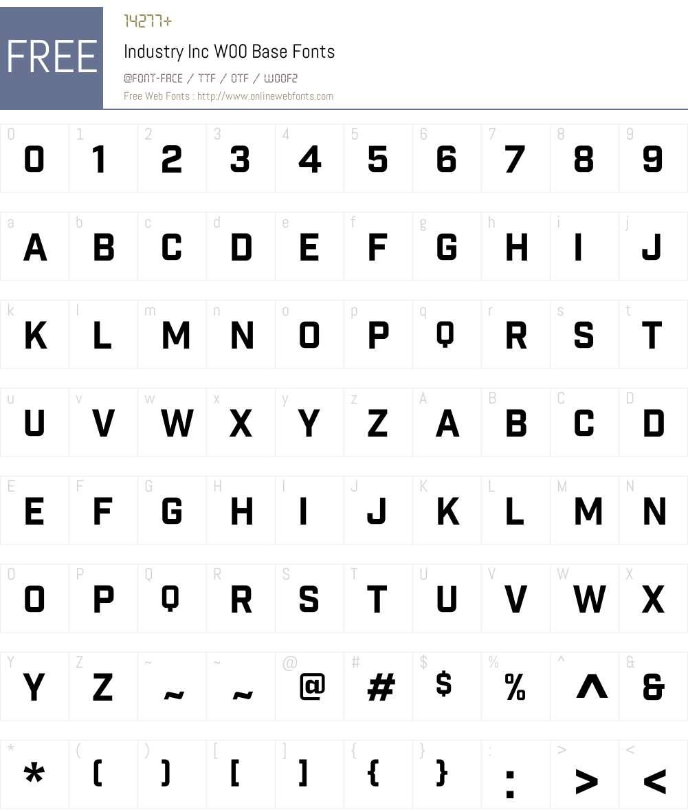 IndustryIncW00-Base Font Screenshots