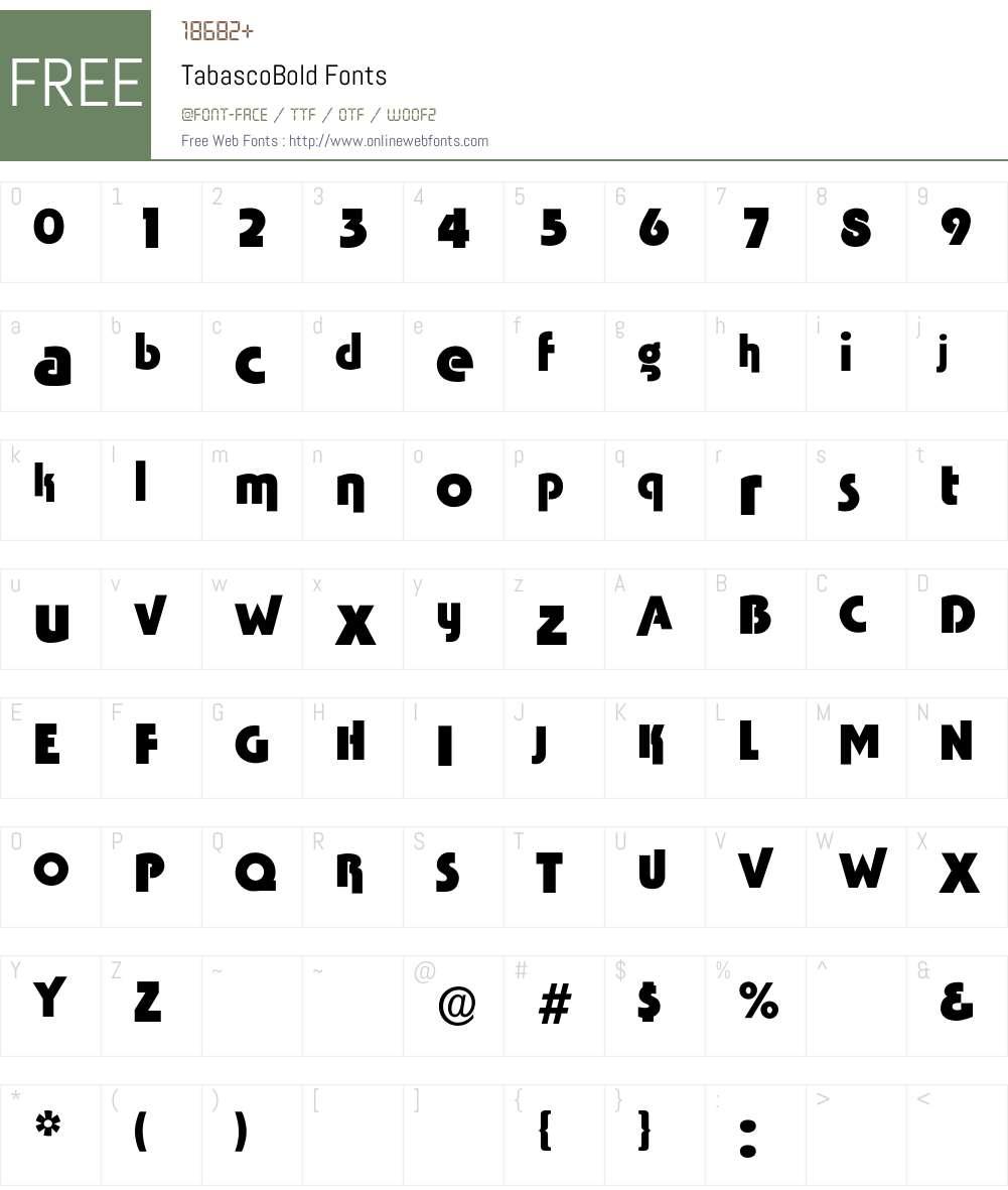 TabascoBold Font Screenshots