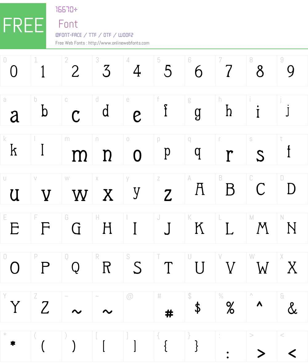 Berolina Font Screenshots