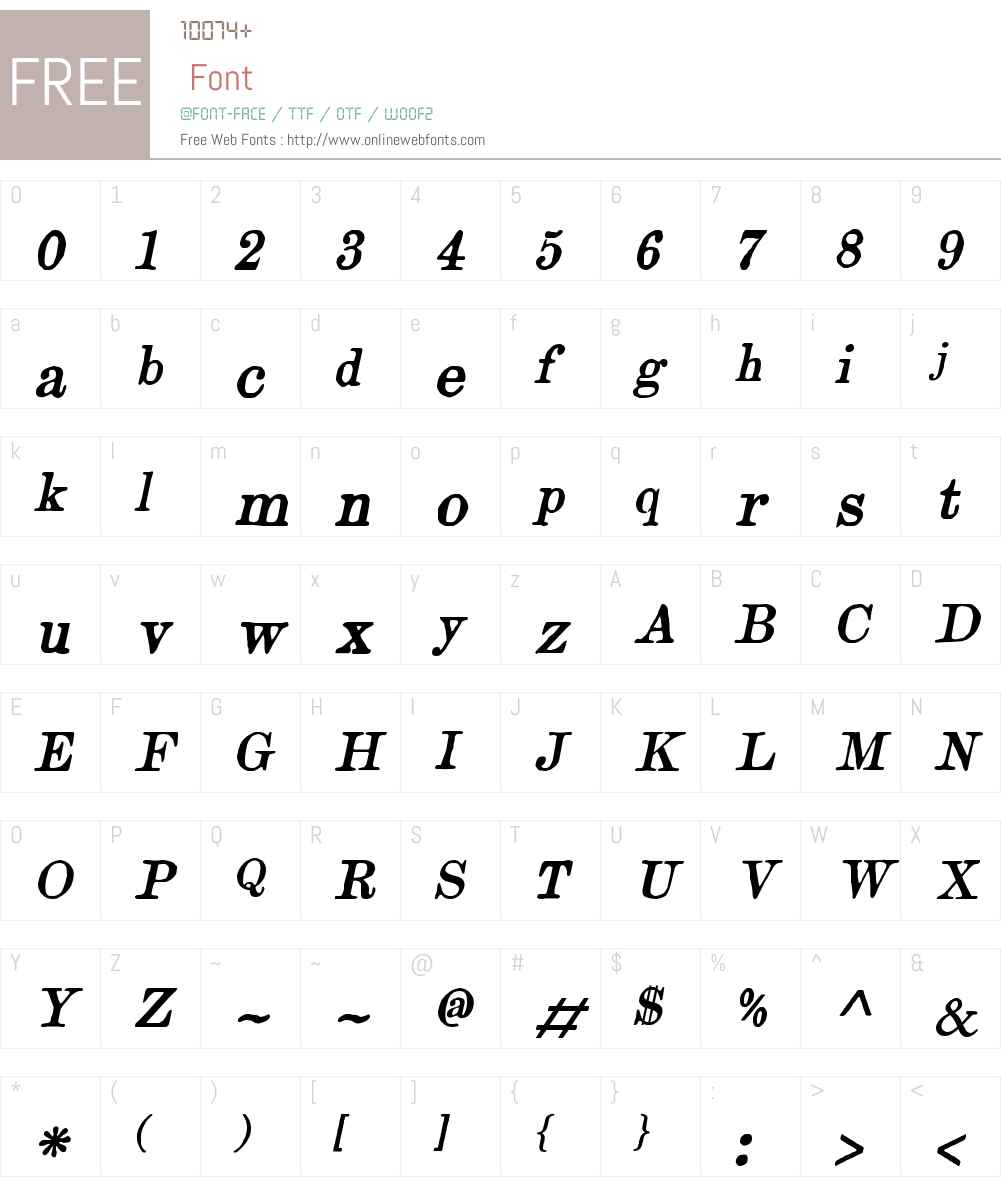 ArtfulDodgerW00-Italic Font Screenshots
