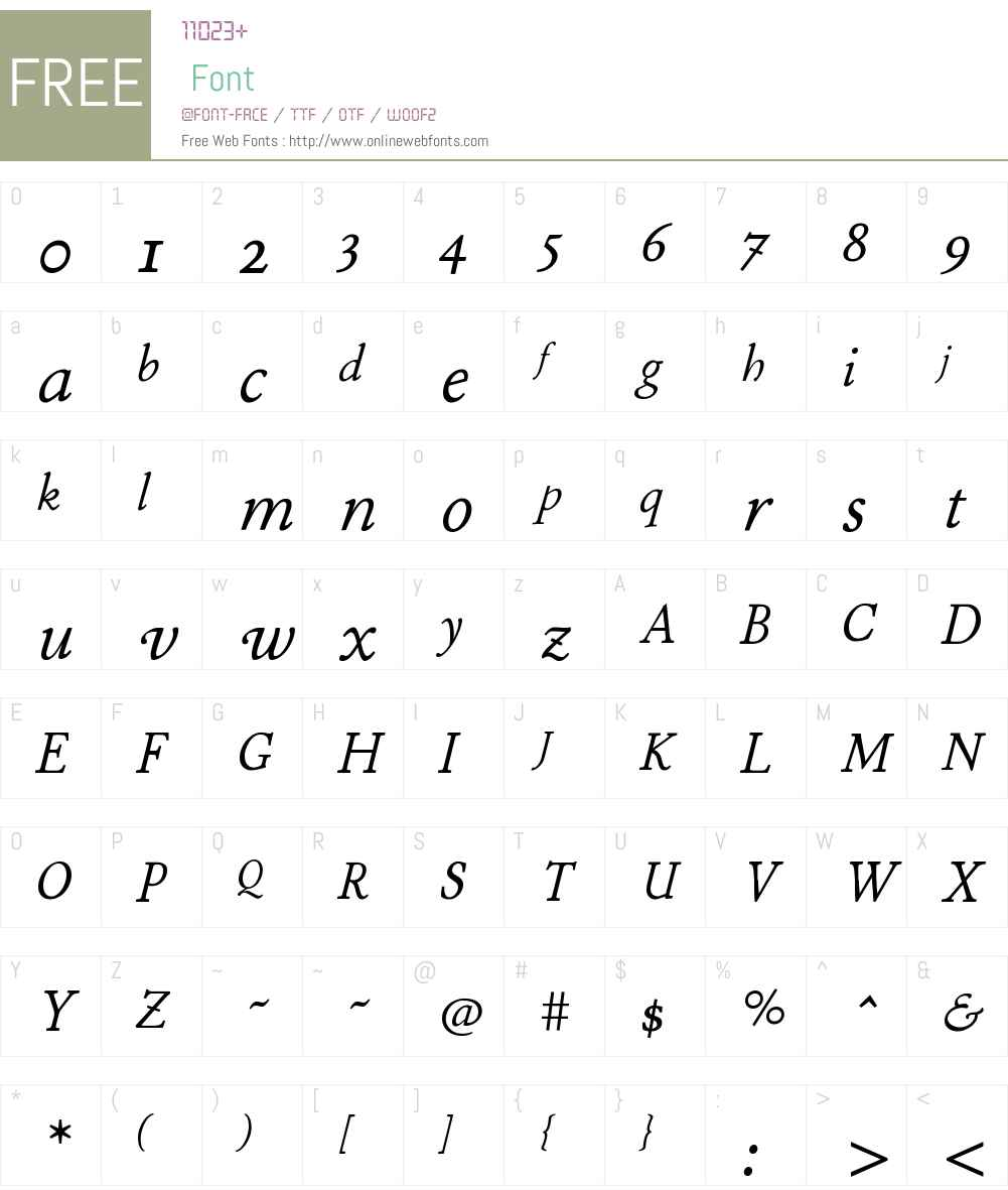 P22StickleyW01-TextItalic Font Screenshots