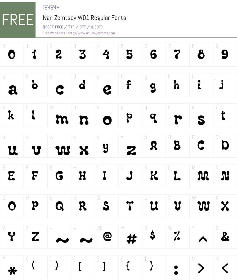 Ivan Zemtsov Font Screenshots