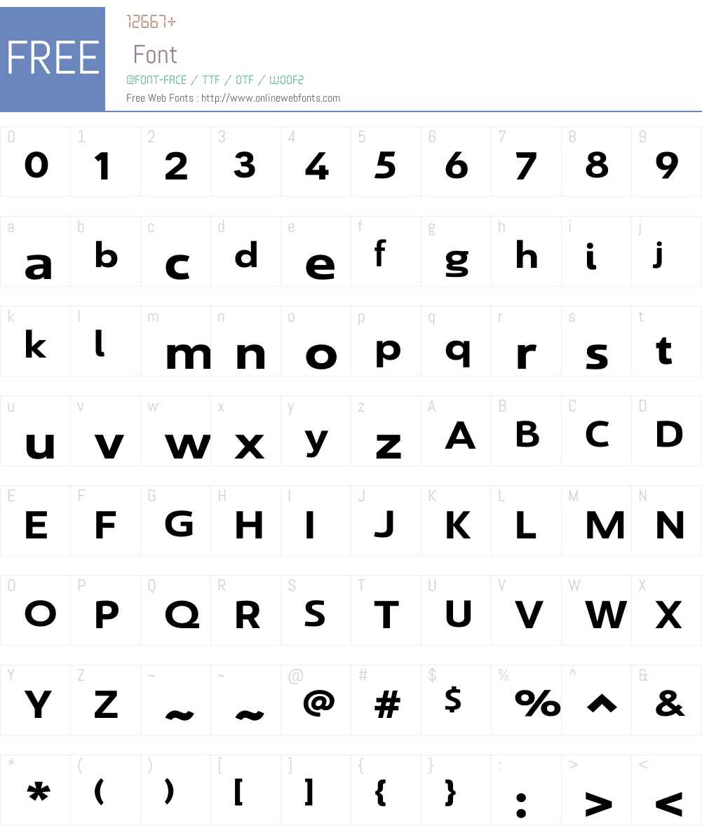 SavignyW01-BoldExt Font Screenshots