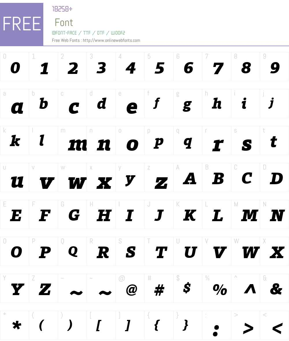 ForoW01-BlackItalic Font Screenshots