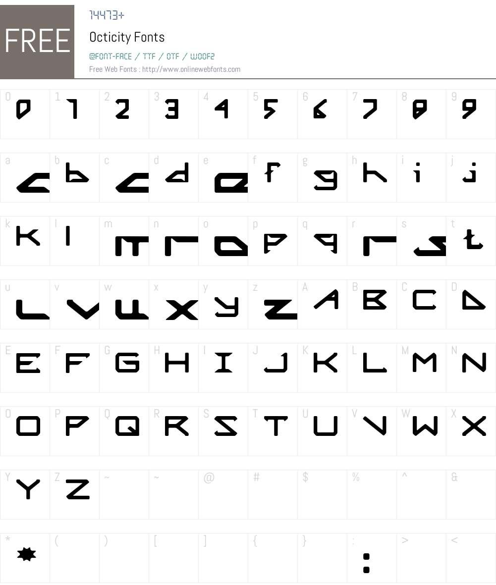 Octicity Font Screenshots