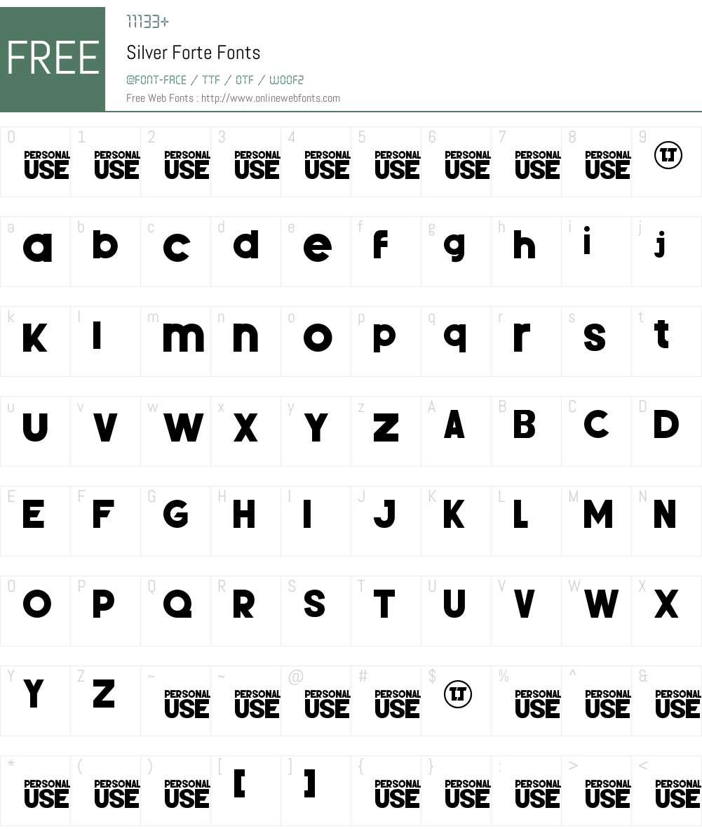 Silver Forte Font Screenshots