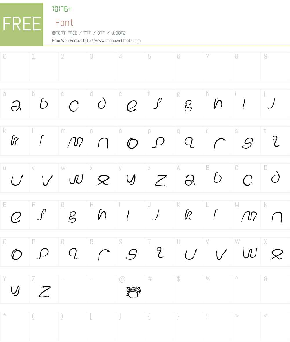 EdenDisplay Font Screenshots