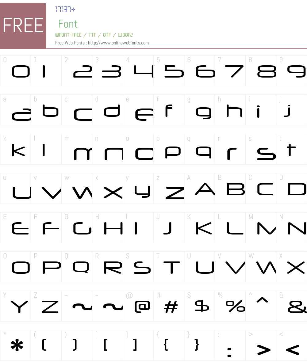 Neuropol X Xp Font Screenshots