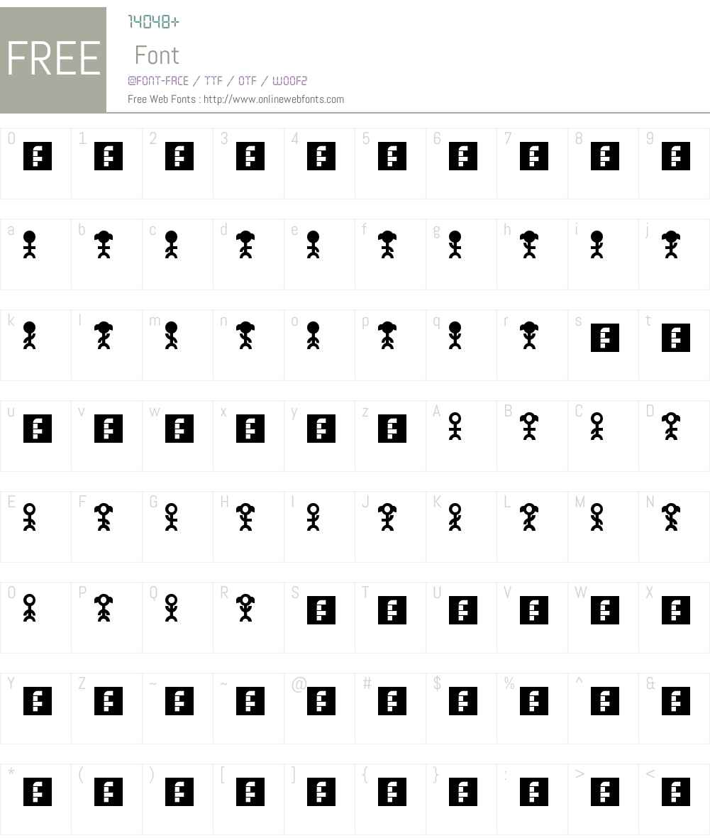 PictoPeeps Font Screenshots