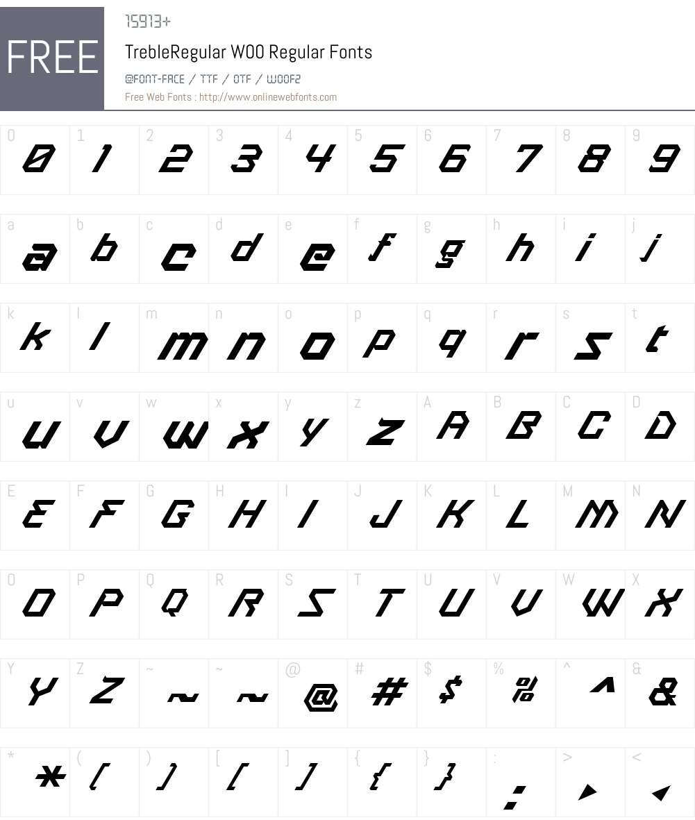 Treble Font Screenshots