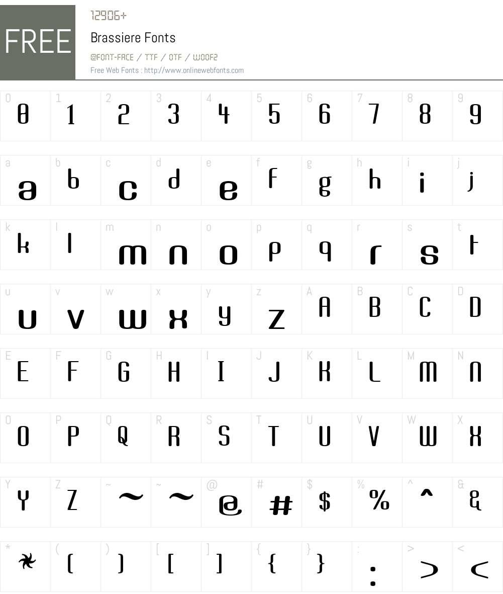 Brassiere Font Screenshots
