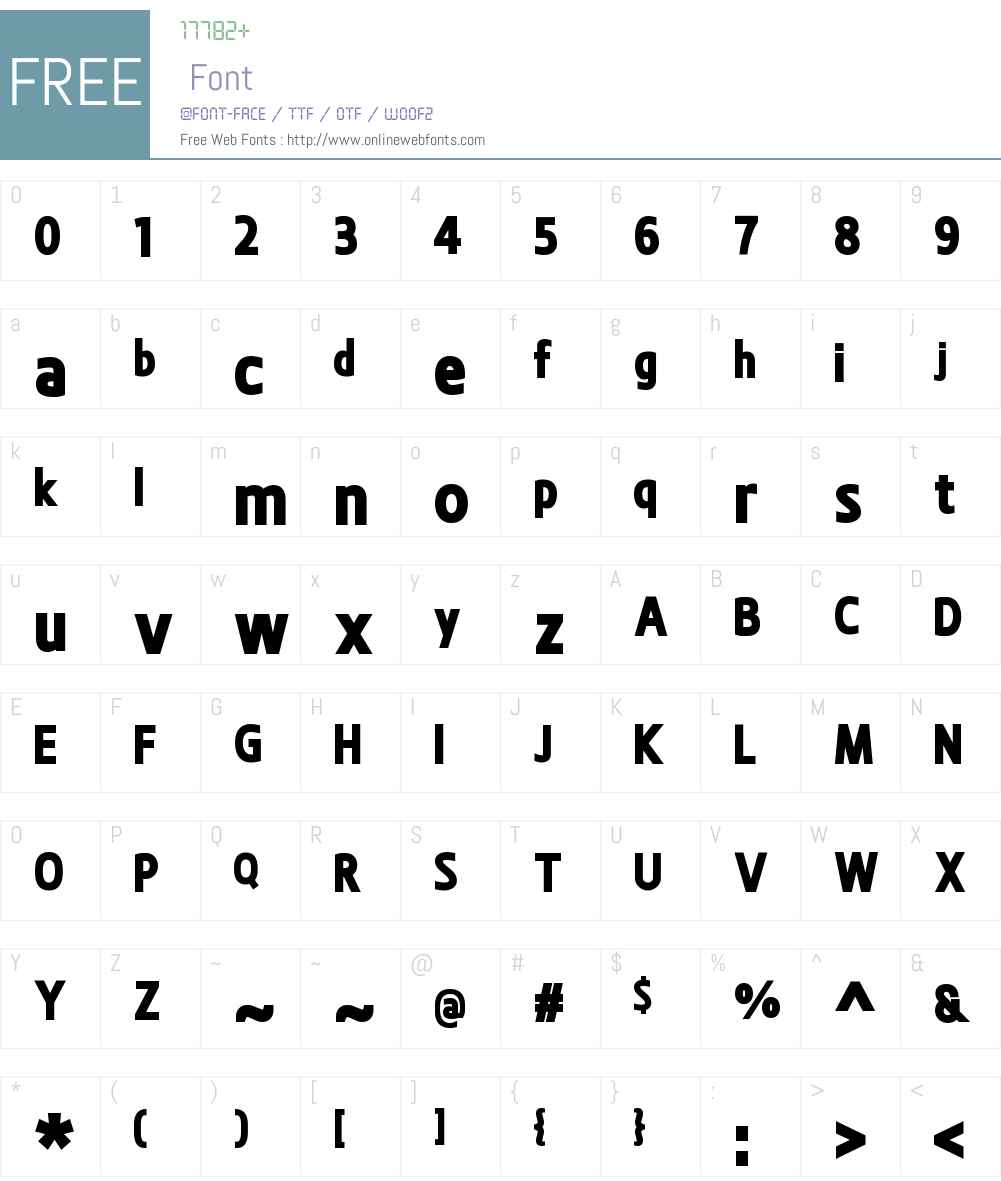 BevalW00-ExtraBold Font Screenshots