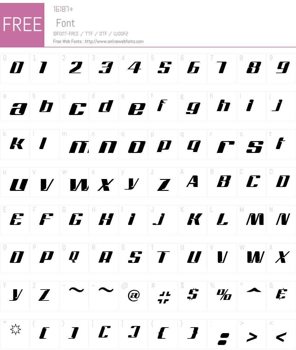 Magenta Font Screenshots