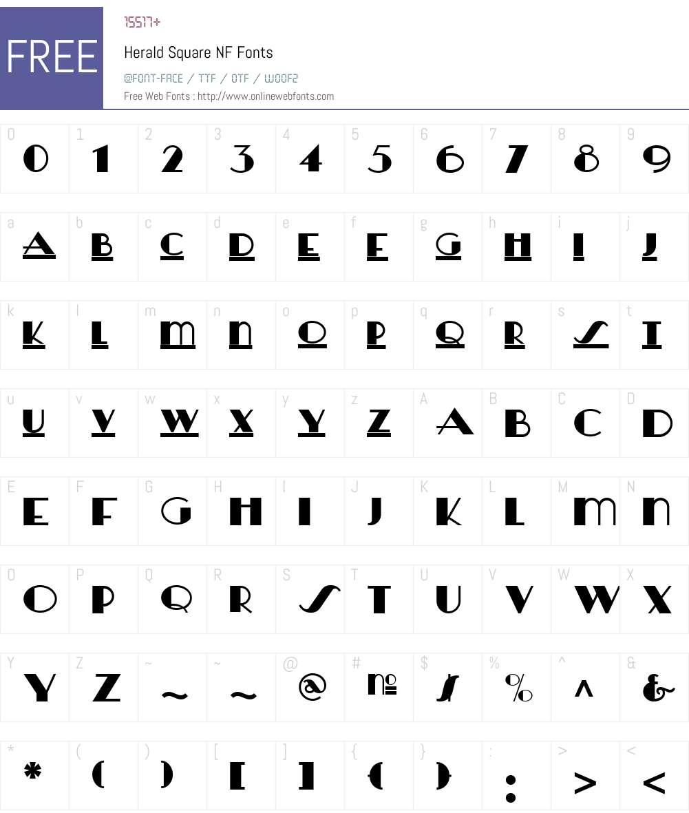 Herald Square NF Font Screenshots