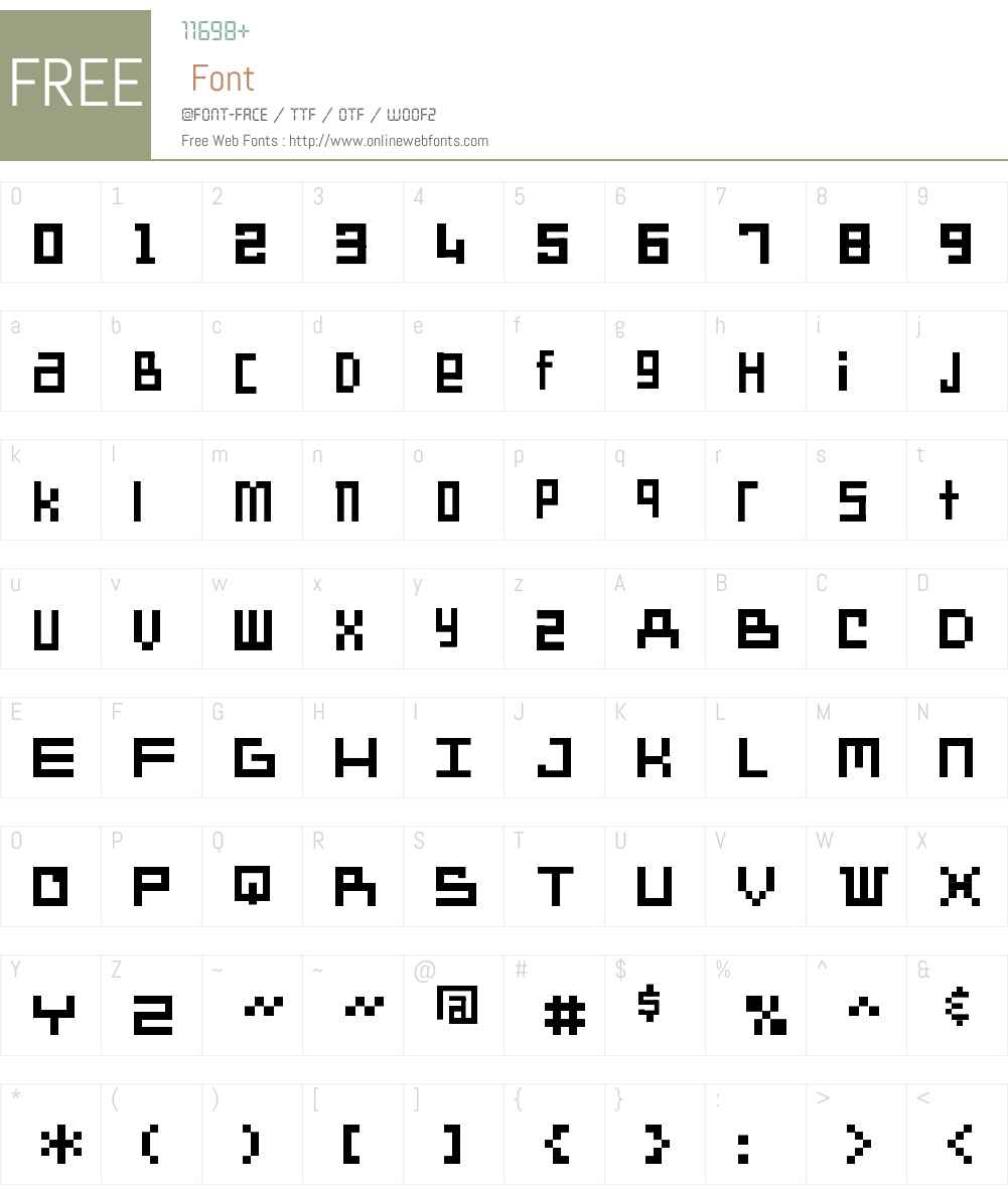 SD Another Dimension Font Screenshots