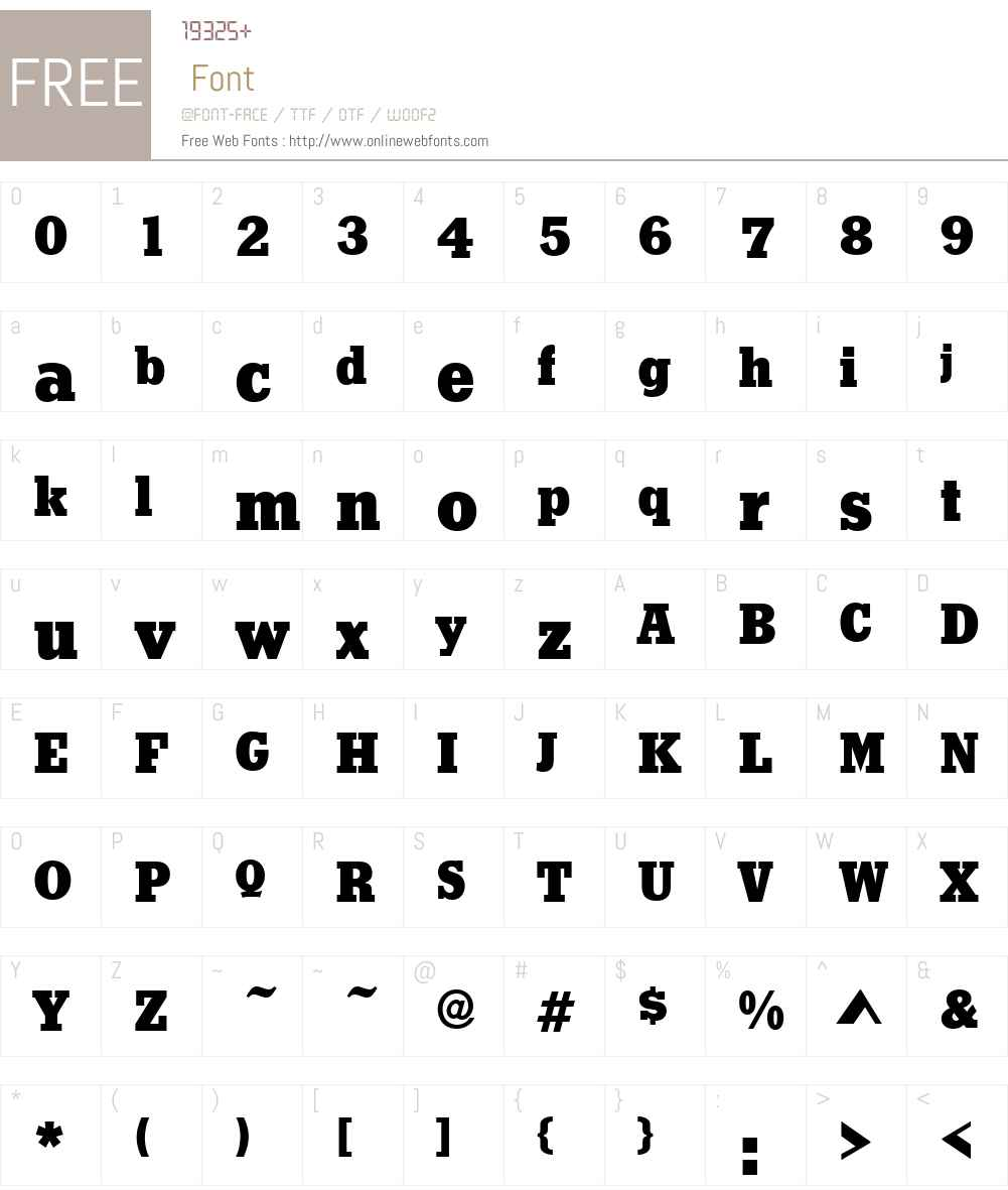 StymieW01-Black Font Screenshots