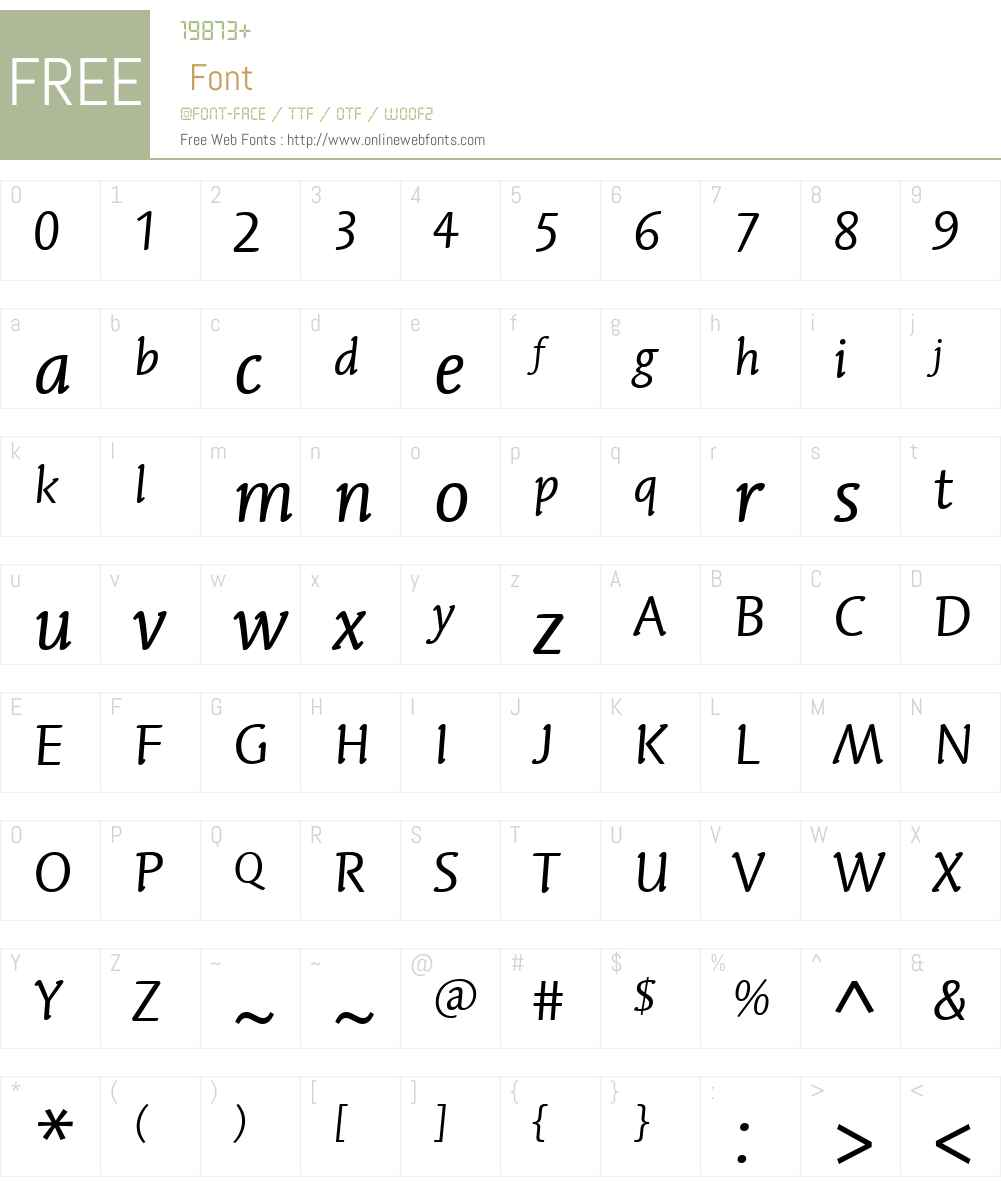 LinotypeSyntaxLetterW01-It Font Screenshots