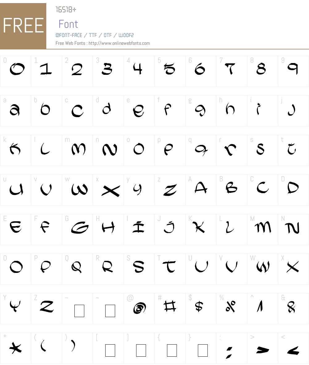 Akareb Font Screenshots
