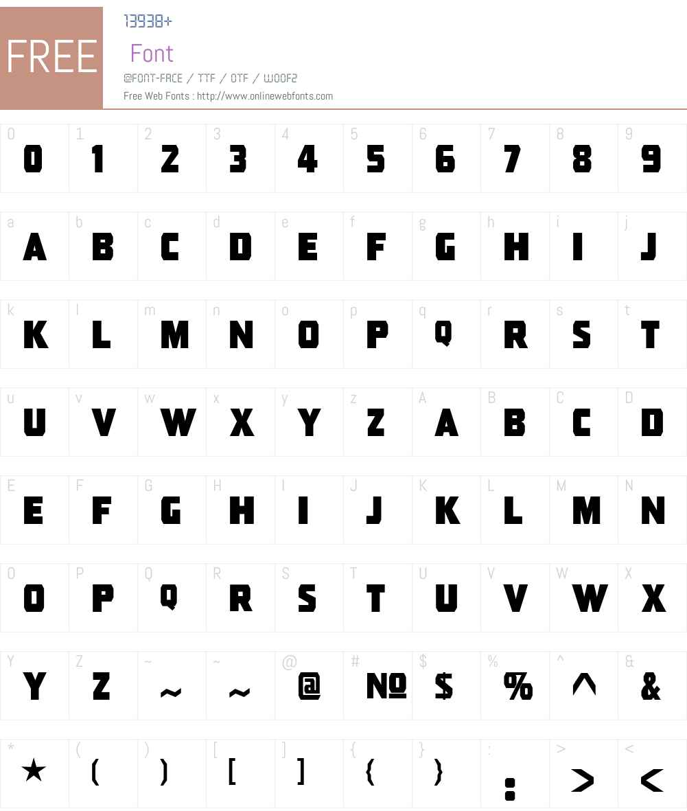 Pressboard JL Font Screenshots