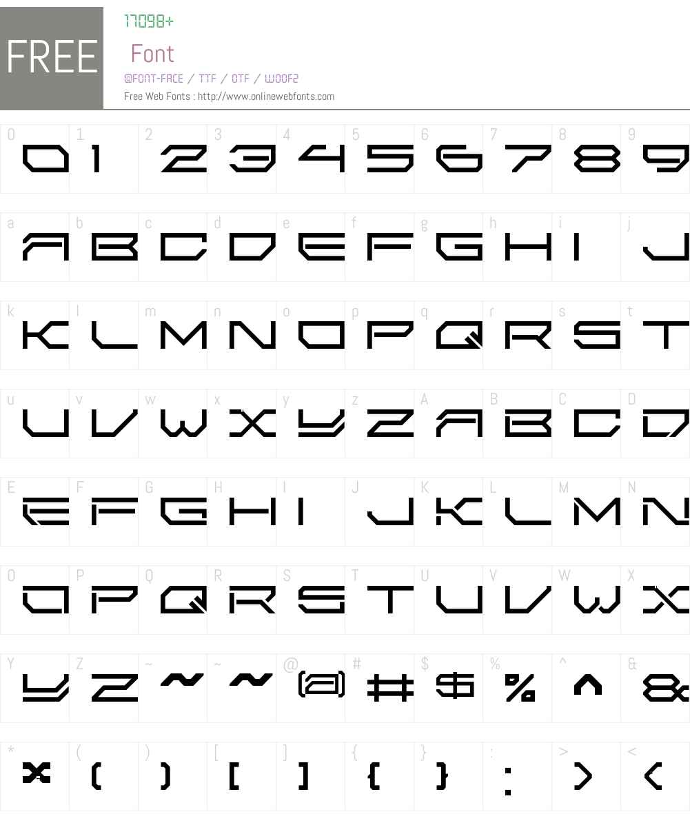 2589 LDR Font Screenshots