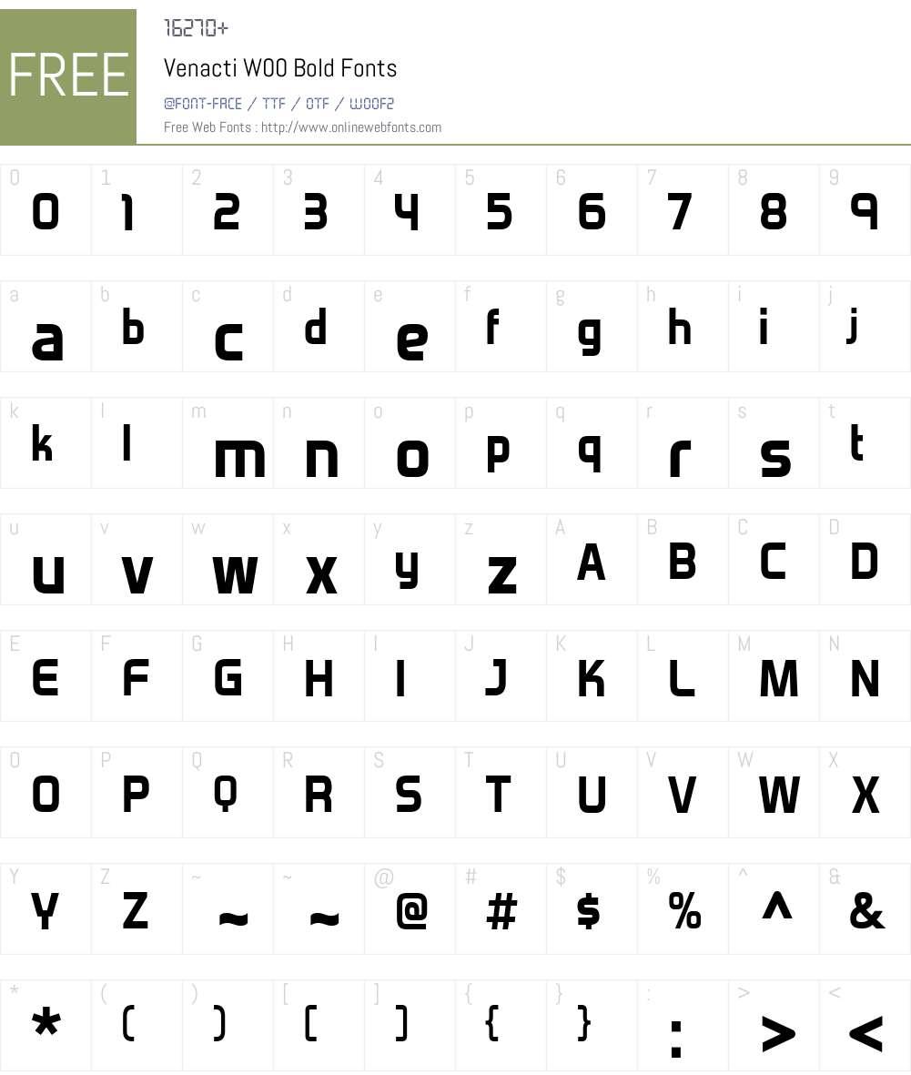 VenactiW00-Bold Font Screenshots