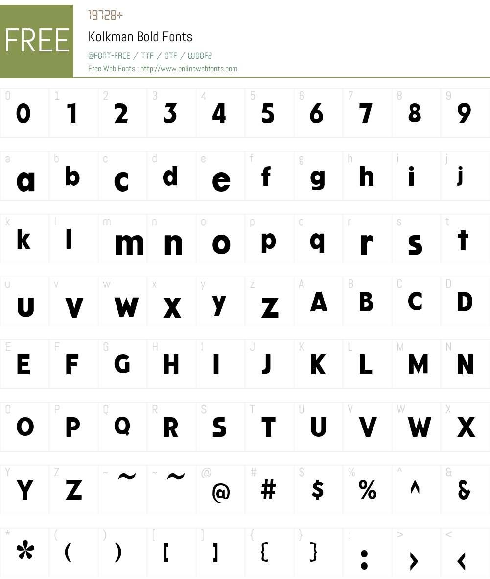 Kolkman Font Screenshots