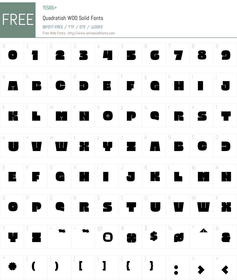 QuadratishW00-Solid Font Screenshots