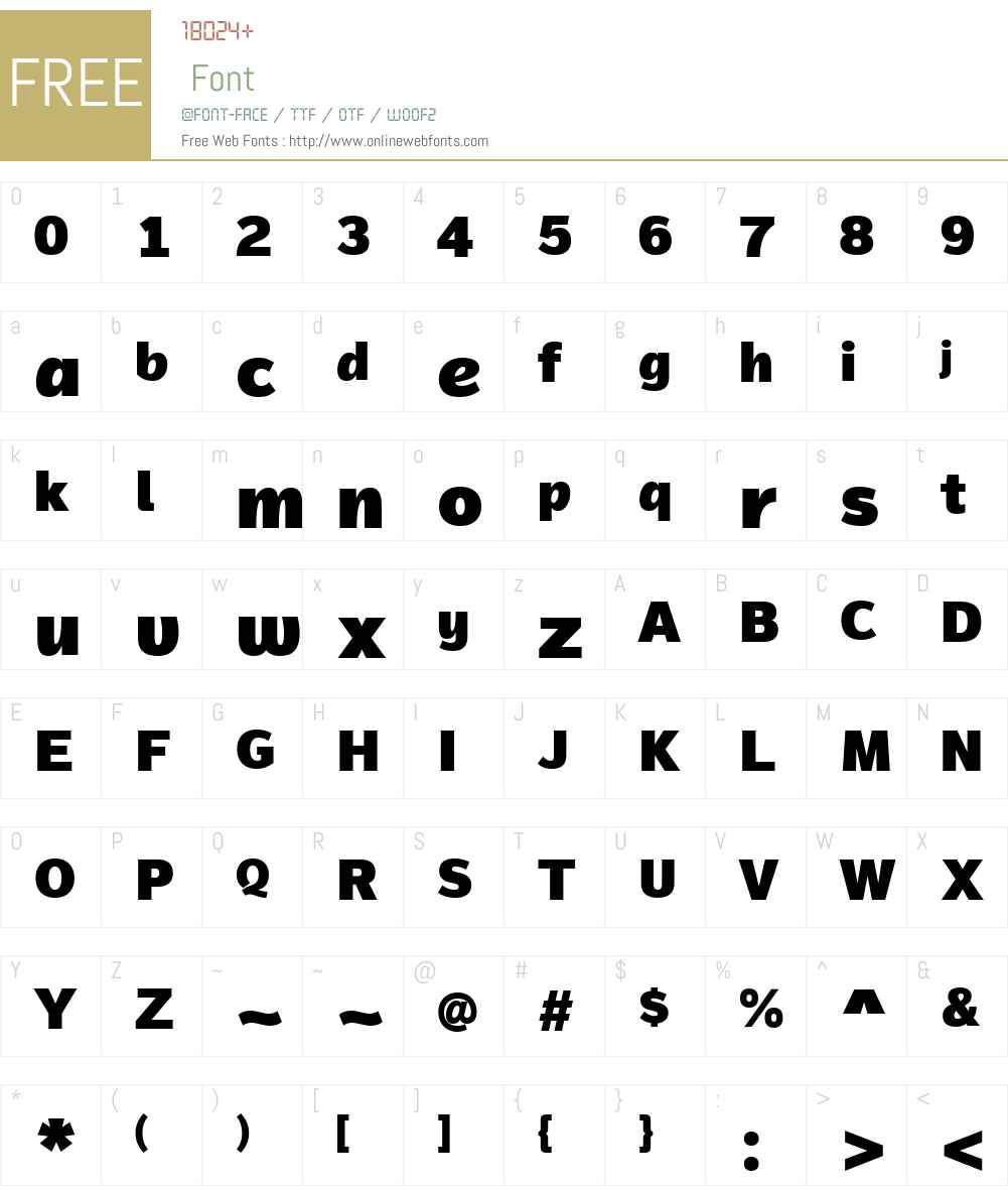 MagnumSansAlfaW01-Black Font Screenshots