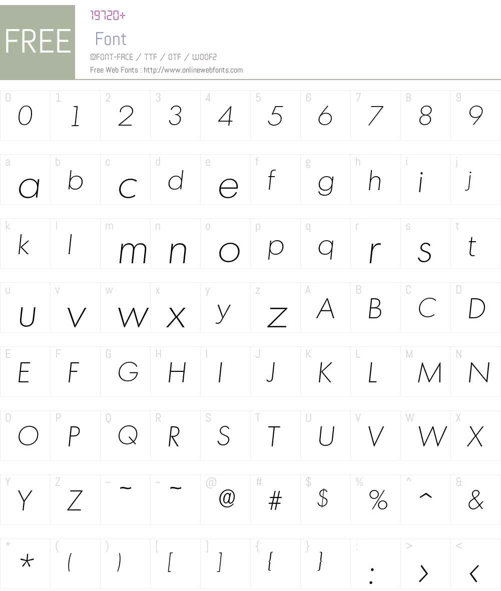 Montreal-XlightIta Font Screenshots