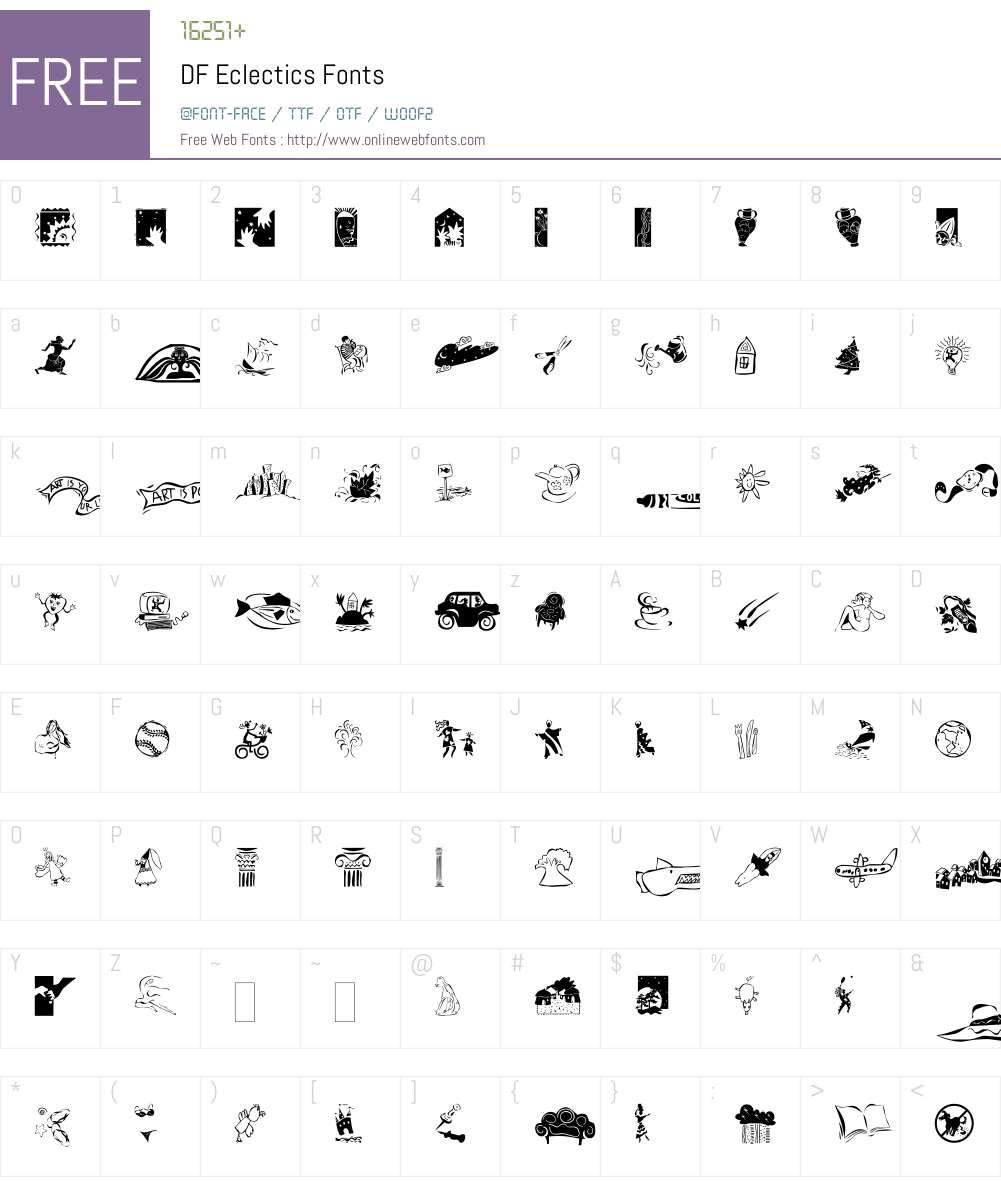 DF Eclectics Font Screenshots