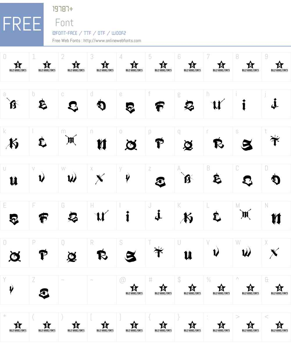 VATOS Font Screenshots