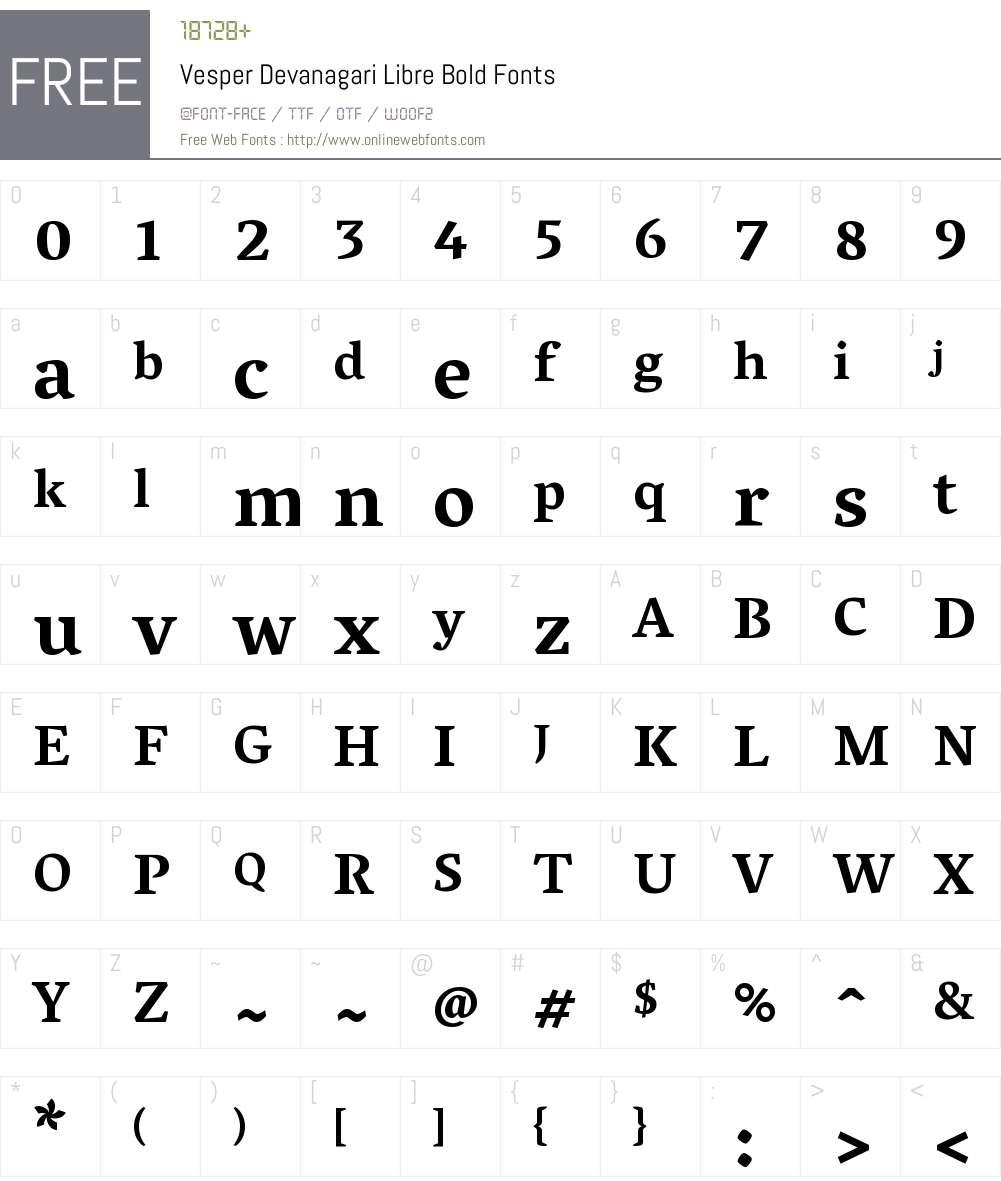 Vesper Devanagari Libre Font Screenshots