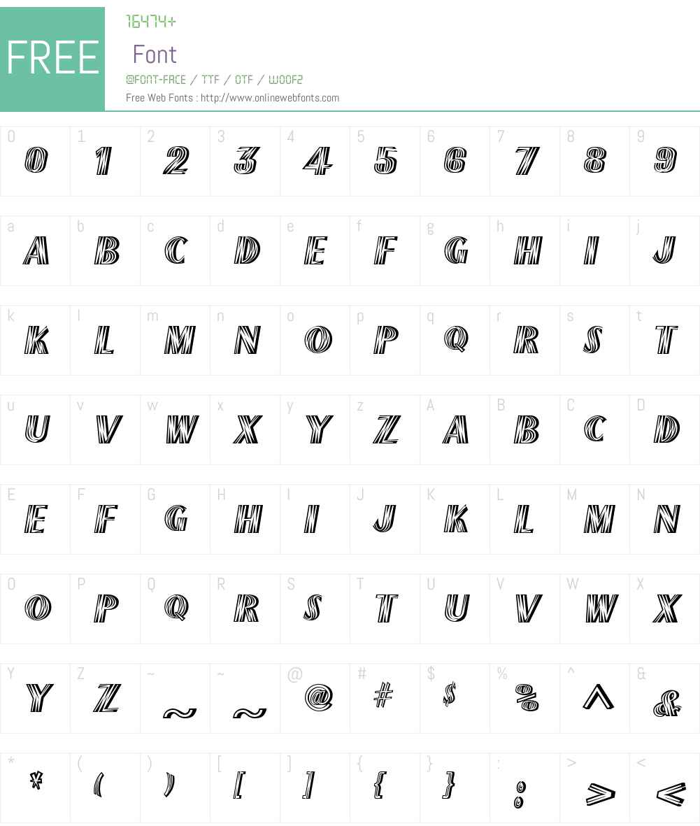 FlashesW01-Regular Font Screenshots