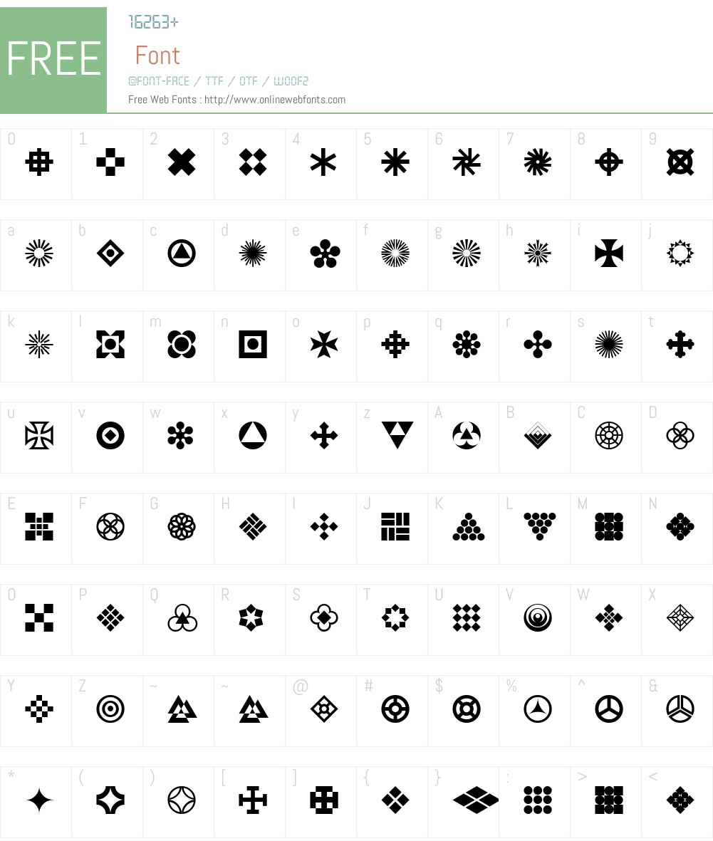 Geornaments Font Screenshots