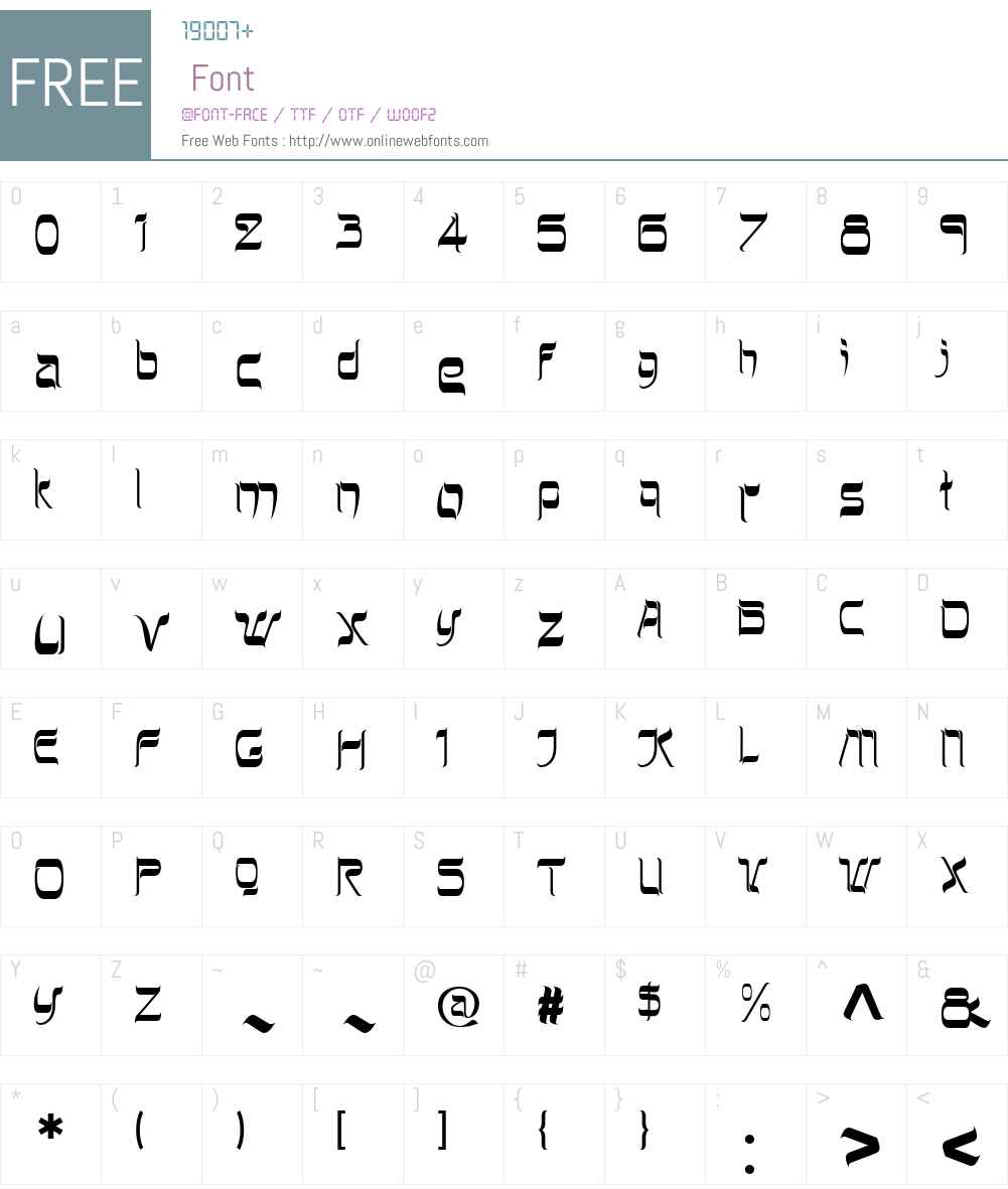 HebrewLatinoW01-Plain Font Screenshots