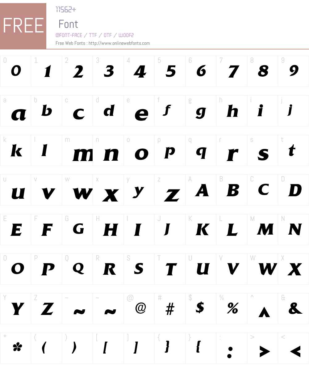 Iquadrat Font Screenshots