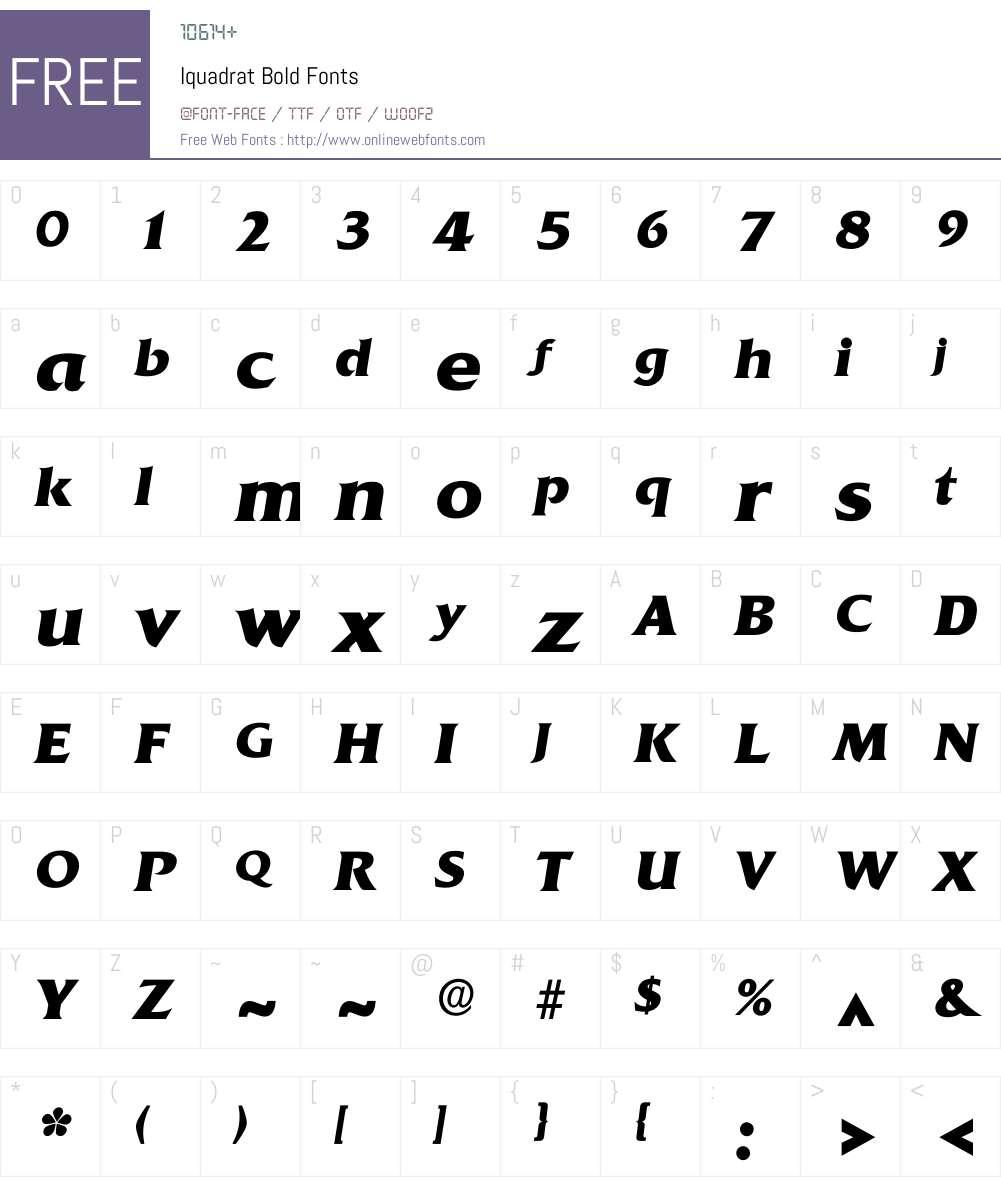 Iquadrat Font Screenshots