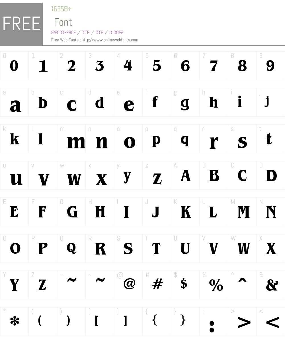 Brian James Condensed Font Screenshots