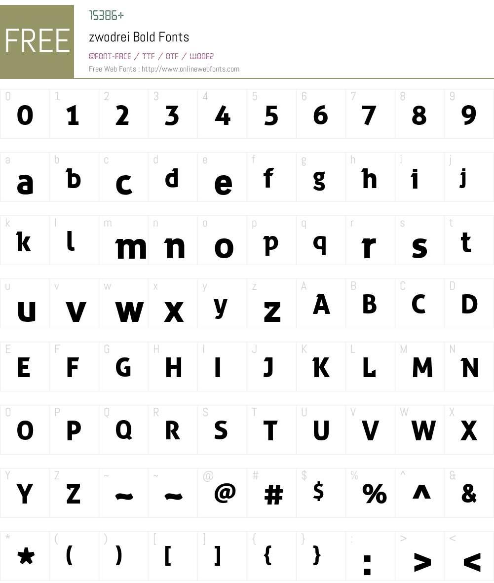 zwodrei Font Screenshots