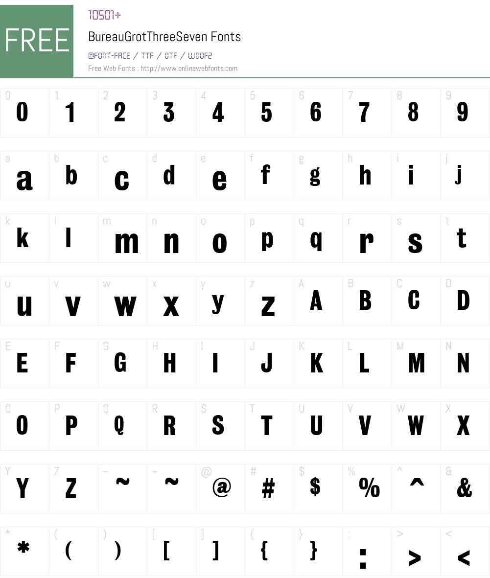 Bureau Font Screenshots