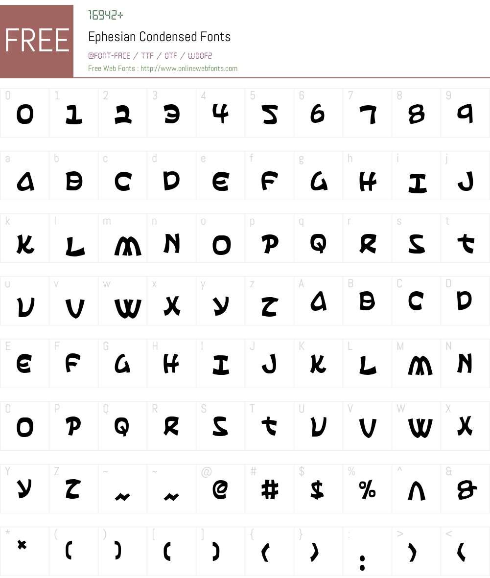 Ephesian Condensed Font Screenshots