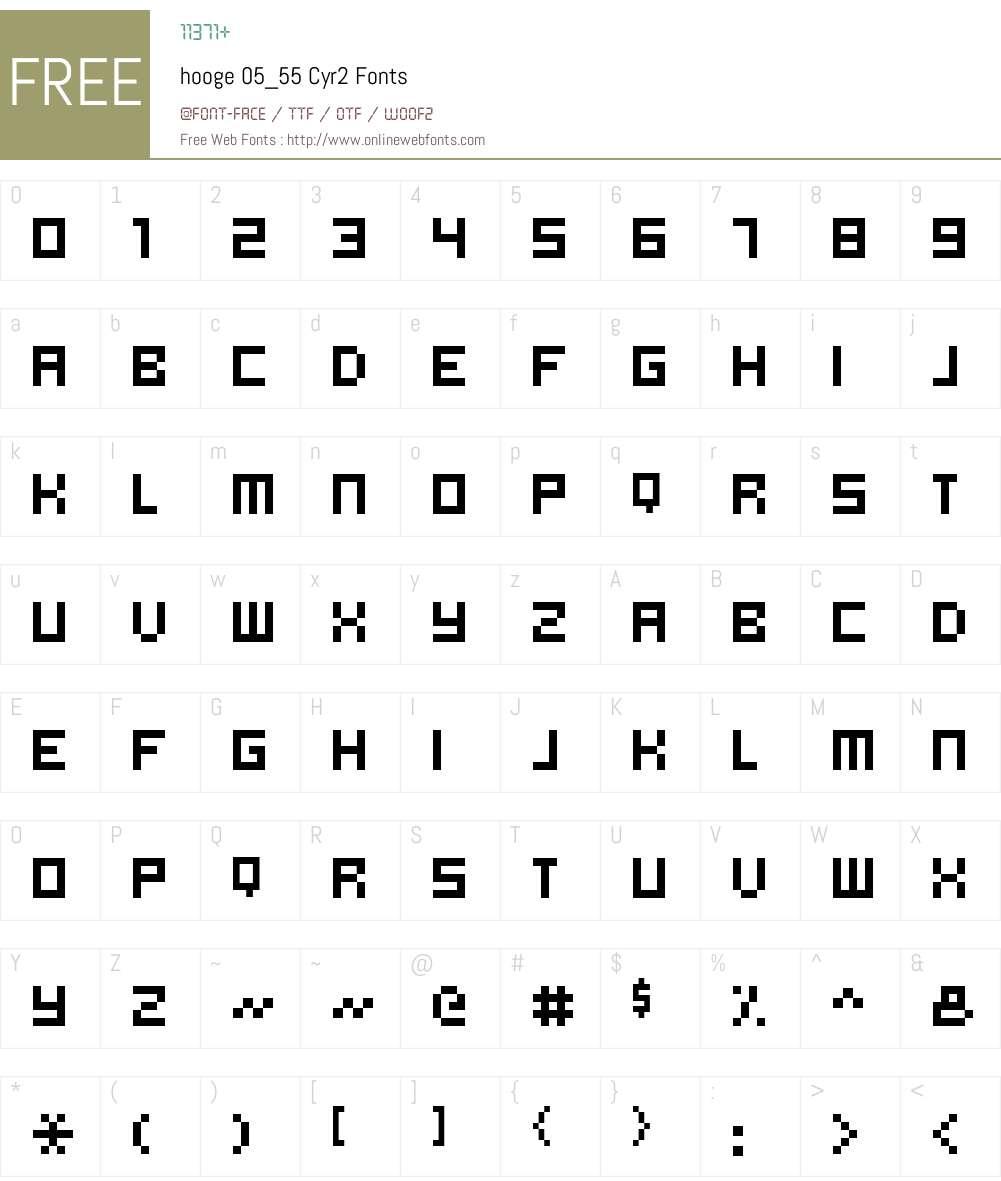hooge 05_55 Cyr2 Font Screenshots