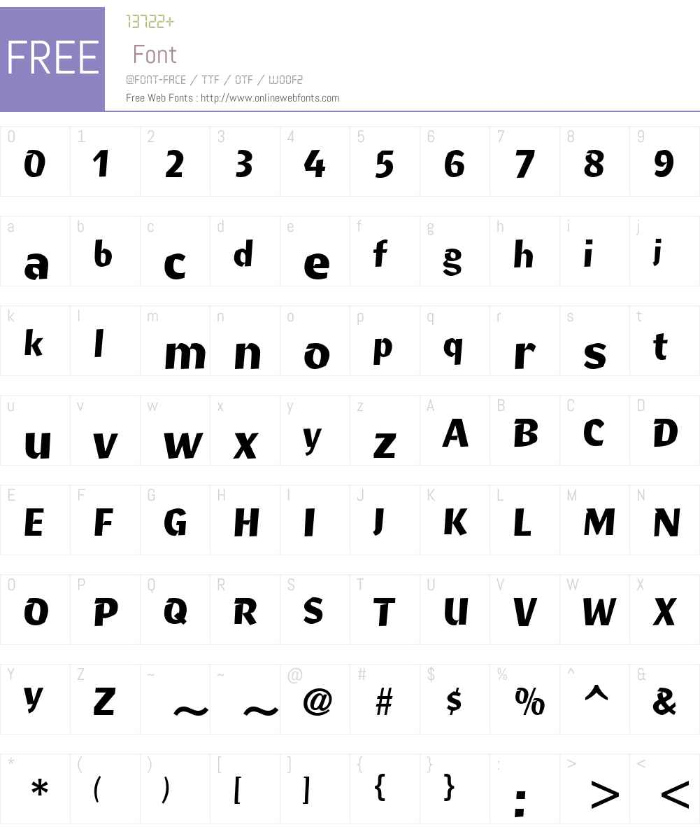 RitmoW01-Bold Font Screenshots