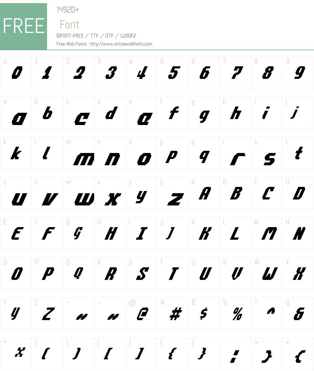 Commonwealth Condensed Italic Font Screenshots