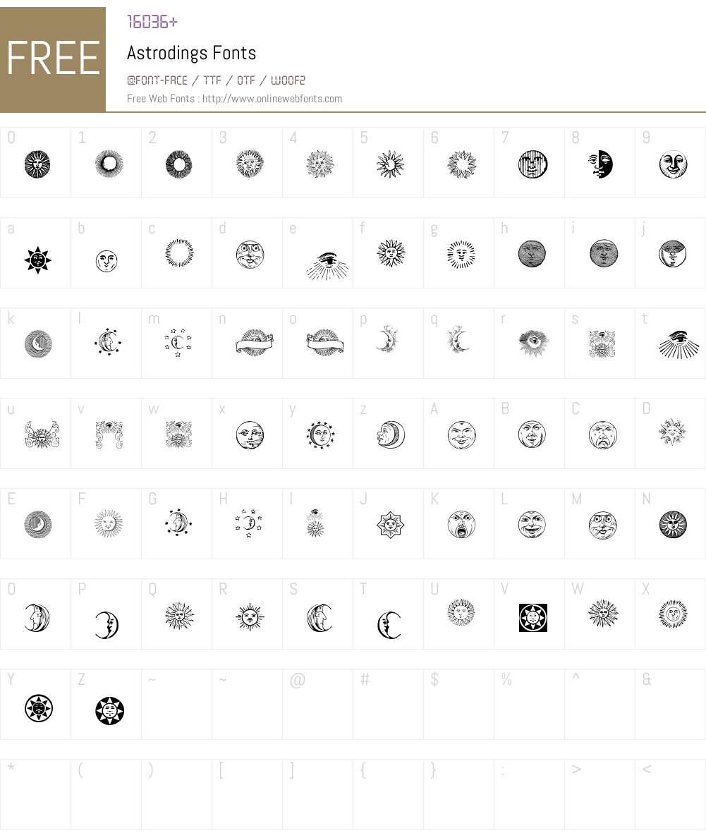 Astrodings Font Screenshots