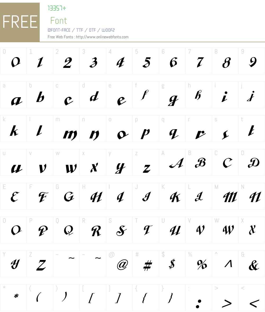 Cabarga Font Screenshots